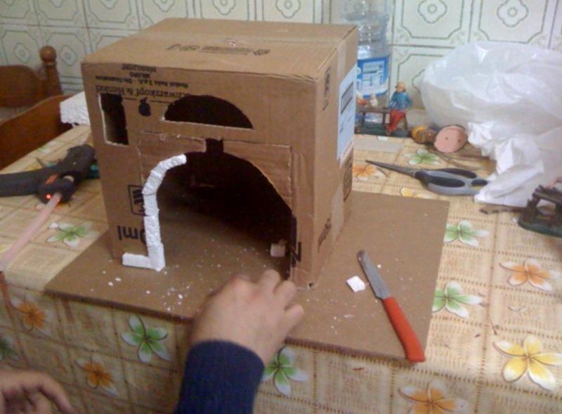 Forum del presepio elettronico multimediale il primo e unico - Casette di cartone da costruire ...